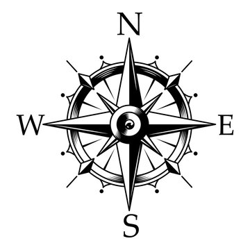 Nautical compass and wind rose concept