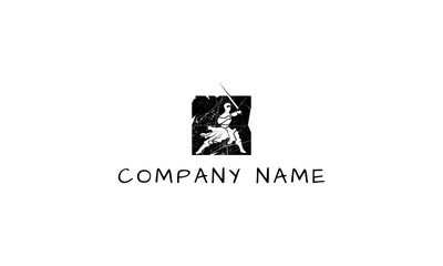 Ninja Power vector logo image