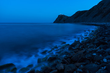 Magnificent night view of the Cape Emine, Black sea coast, Bulgaria. Cape Emine is the the easternmost point of the Balkan Mountains.
