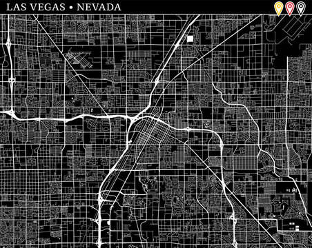 Simple map of Las Vegas, Nevada