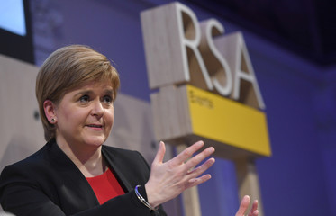 Scotland's First Minister Nicola Sturgeon speaks at the Royal Society of Arts in London