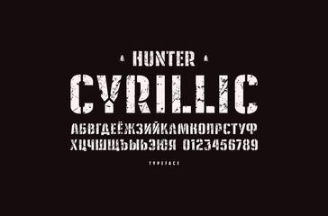 Original stencil-plate sans serif font
