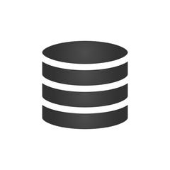Database icon, vector illustration isolated on white background.