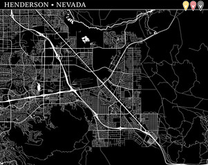 Simple map of Henderson, Nevada
