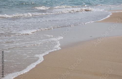 Schiuma Di Mare Sulla Riva Spiaggia Di Sabbia Paesaggio Marino Per