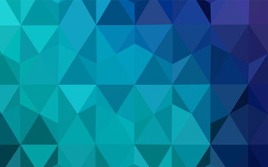 Light Blue, Green vector abstract polygonal background.