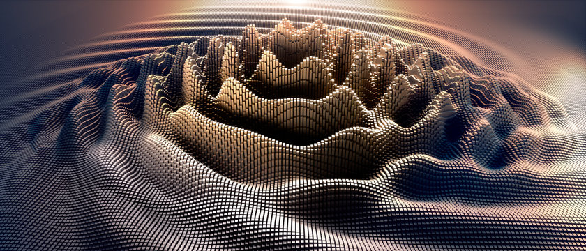 Wellen in digitalem Raster - Atommodell