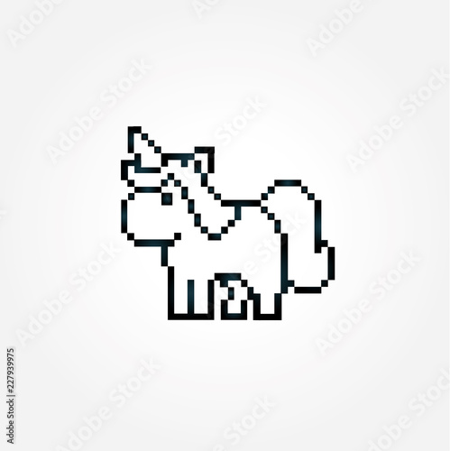 Pixel Einhorn Stock Image And Royalty Free Vector Files On Fotolia