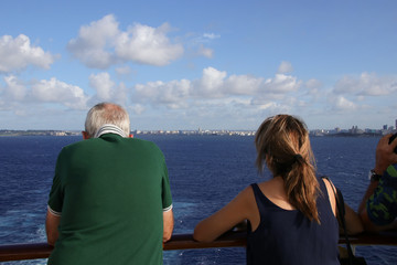 Havana, Skyline, View from a Cruise Ship, People