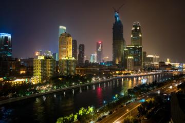 Tianjin night view Papier Peint