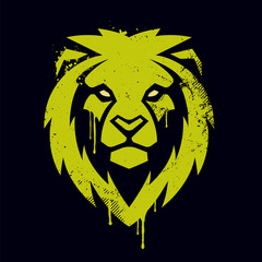 Lion Head Vector Graffiti Art