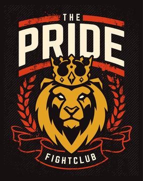 Emblem Design with Lion in Crown