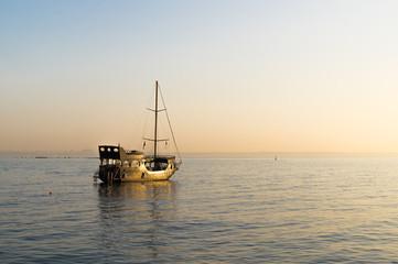 ship at the morning