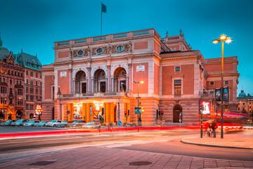 Royal Swedish Opera (Kungliga Operan) in Stockholm at twilight, Sweden, Scandinavia
