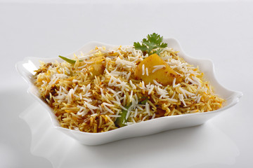 Potato Biryani or Aloo ki Biryani