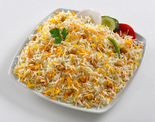 Chana Pulao or Chana Biryani
