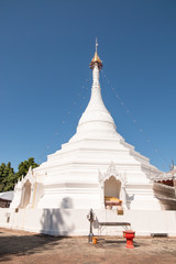 Wat Phra That Doi Kong Mu. temple at Mae Hong Son northern of Thailand.