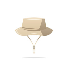 Fishing hat vector isolated
