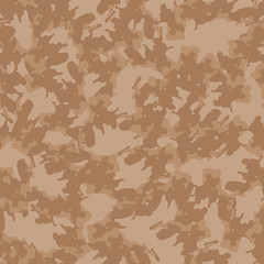 UFO military camouflage seamless pattern in different shades of beige and brown colors