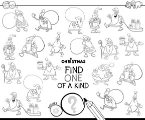 find one of a kind Santa Claus character color book
