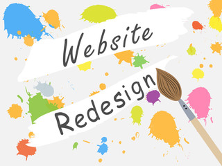 Obraz Page design site closed for redesign. Changing the design of the site. Work on the develop of the site. - fototapety do salonu