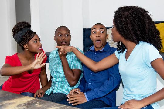 Dispute of group of african american people