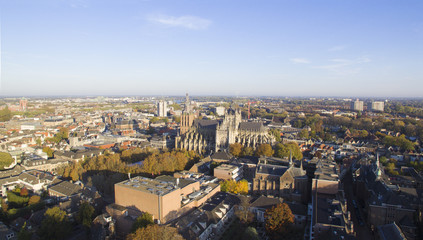 Aerial view on the Center of Den Bosch