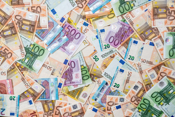 background of all euro bills for dwsing
