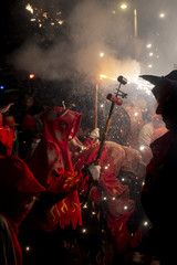 "Traditional festive of ""correfocs"" day"