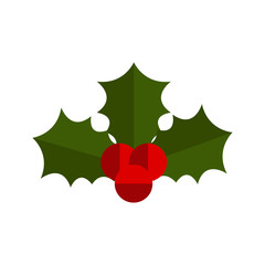 Isolated christmas holly leaf icon. Vector illustration design