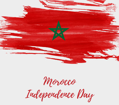Morocco Independence day holiday background.