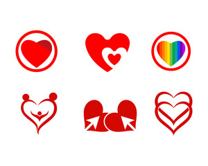 Love red logo and symbol vector