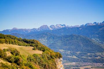 Les Alpes vue depuis Saint Hilaire