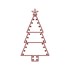 Isolated christmas tree icon. Vector illustration design