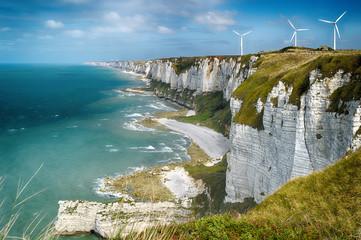Alabaster cliffs. Normandy, France. Fototapete