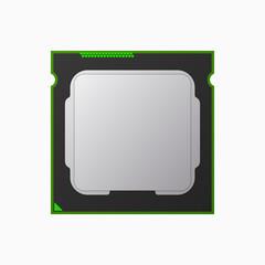 CPU, micro processor, computer chip. Vector illustration