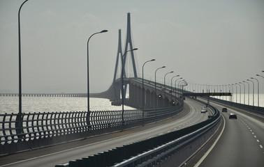 Highway bridge in South China Sea
