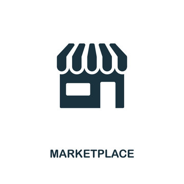 Marketplace icon. Premium style design from crowdfunding icon collection. UI and UX. Pixel perfect marketplace icon. For web design, apps, software, print usage.