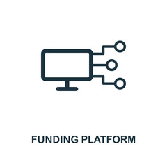 Funding Platform icon. Premium style design from crowdfunding icon collection. UI and UX. Pixel perfect funding platform icon. For web design, apps, software, print usage.