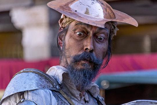 Portrait of an actor, representing Don Quixote