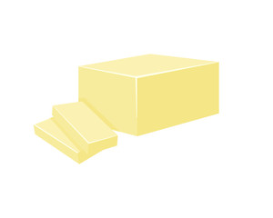 Butter vector illustration isolated on white background.