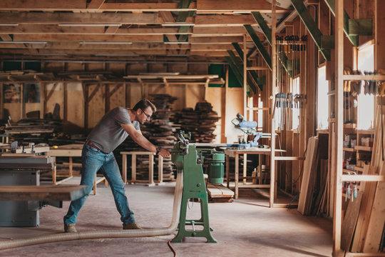 Portrait of Artisan Carpenter Working in his Workshop