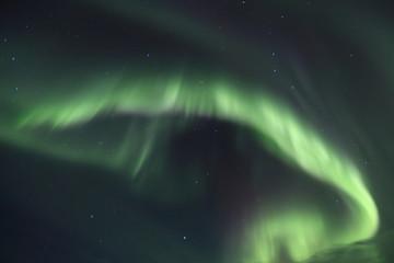 Aurora in a dark sky