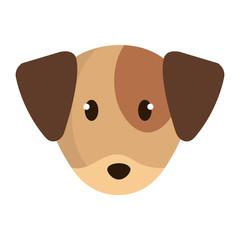 cute little dog head character