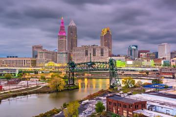 Cleveland, Ohio, USA Skyline