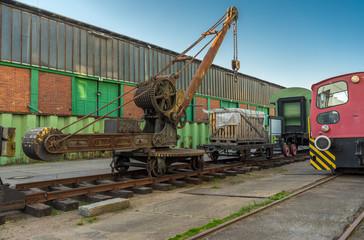 Schienenkrahn alt der Hamburger Hafenbahn