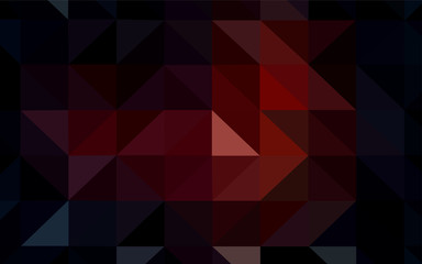 Dark Red vector abstract polygonal pattern.
