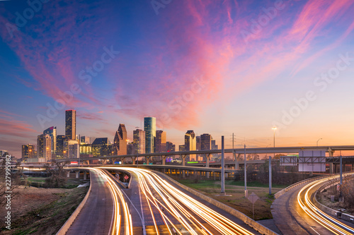 Fototapete Houston, Texas, USA Skyline