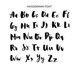 Hand drawn lettering set. Vector Alphabet. Custom Typography for Designs: Logo, for Poster, Invitation, etc.