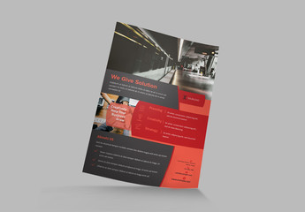 Red and Dark Gray Flyer Layout